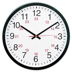 Universal 24-Hour Round Wall Clock