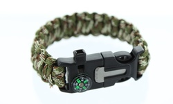 5 in 1 Fire Starter Bracelet - Camo - 2 Pack