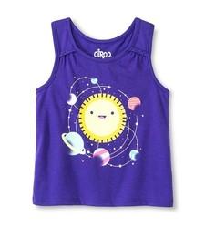 Circo Baby Girls' Solar System Graphic Tank Top - Purple - Size: 3T