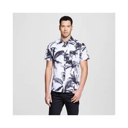 Mossimo Men's Short Sleeve Button Down Shirt - Palm Print - Size: Medium