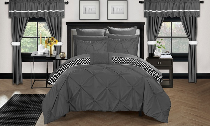 CH 20 pc Knoxville Reversible Complete Bedroom in a Bag - Grey - Sz ...