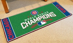 Cubs World Series Champs Baseball Runner
