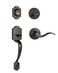 Dynasty Hardware Denver Front Door Left Hand Handleset - Oil Rubbed Bronze
