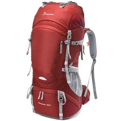 Mountaintop Hiking Backpack Water-resistant - Jujube red - 65Liter