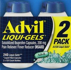 Advil Liquid Gel Medicine for Pain - 240 Count