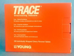 Young Dental Trace Plaque Disclosing Tablets - Pack of 250 - Cherry