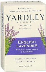 Yardley London English Lavender Naturally Moisturizing Bath Bar - 4.25 Oz