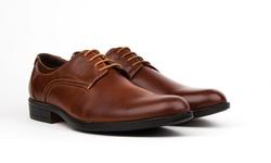 Royal Men's Plain Toe Oxford Dress Shoes - Brown - Size: 10