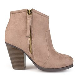 Journee Collection Women's Faux Suede Ankle Boots - Taupe - Size: 7.5