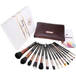 SignatureQuality 15Pcs Makeup Brush Set Kit - Rose Golden