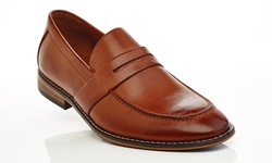 Solo Men's Slip On Loafers - Cognac - Size: 8.5