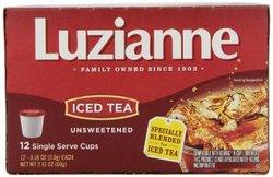 Luzianne Iced Tea Unsweetened Single Serve Tea Cup - 12 Count