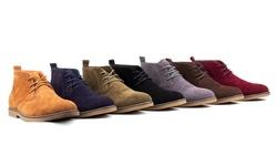 Braveman Men's Suede Chukka Boots: Blue/12