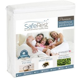 Saferest Hypoallergenic Waterproof Mattress Protector - White - Size: Full