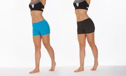 Marika Perforated Pieced Shorts: Black/Small
