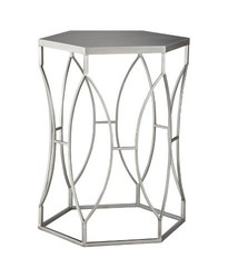 Threshold Aluminum Metal Accent Table - Silver