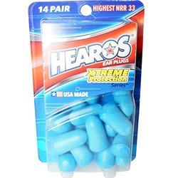 Hearos Xtreme Protection Series Ear Plugs Highest NRR - 14 Pairs - 12 Pack