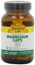Country Life Target-Mins Magnesium Caps 60 Veggie Caps 0.4lbs, 300 mg