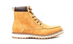 Vincent Cavallo Men's Moc-Toe Boots - Tan - Size: 9