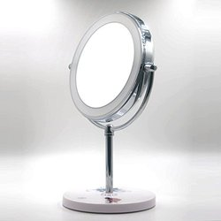 Ki Store Dimmable Lighted Double Sided Makeup Mirror - White