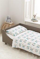 Aden and Anais Wise Guys Organic Toddler Bedding Set white, 3