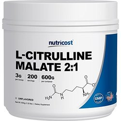 Nutricost L-citrulline Powder (600 Grams) As L-citrulline Malate (2:1)