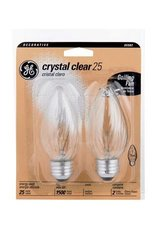 GE 25W CLR Flame Bulb (Pack of 8)