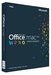 Office Mac Home & Business 2011 Key Card (1PC/1User)