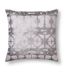 Xhilaration Metallic Shibore Decorative Pillow - Silver