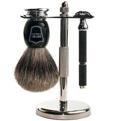 Parker Safety Razor Shave Set Includes Pure Badger Brush