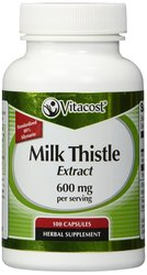 Vitacost Milk Thistle Extract - Standardized - 600 mg - 100 Capsules
