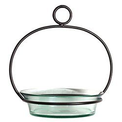 Romantic Decor Hanging Birdbath - Clear Colored Glass