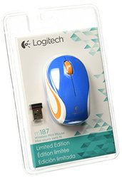 Logitech Wireless Mini Mouse - Blue (M187)