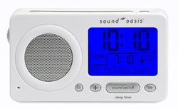 Sound Oasis Travel Sleep Sound Therapy System 1 Sound Machine - White