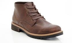 Marco Vitale Men's Lace Up Ankle Boots - Brown - Size: 8.5