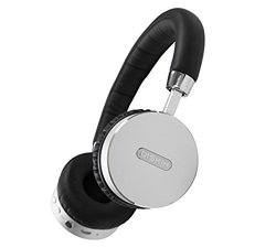 Super Upgraded Diskin DH3 Bluetooth Wireless Headphones with 500 mAh Battery, Enhanced Sound & Beats - Black/Silver
