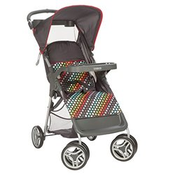 Cosco Lift & Stroll Convenience Stroller - Rainbow Dots