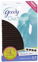 Goody Ouchless Extra Thick Elastics - Brown - Size: 4MM - 17CT
