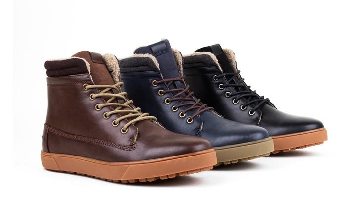 Fur Lined Sneaker Boots: Black/9.5