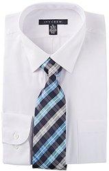 Ivy Crew Mens White Dress Shirt & Tie Set 17'' Neck White