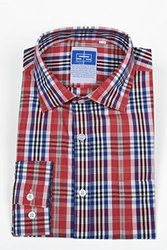 "Complicated Shirts Men's Plaid Shirt, Red, 17 Neck/32-33"" Sleeve"
