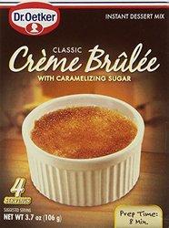 Dr. Oetker 4 Servings Creme Brulee Mix - 3.7oz - Pack of 3