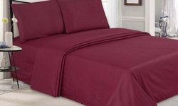 Ultra-Luxe Double-Brushed Microfiber Embossed Sheets - Burgundy - King