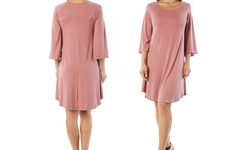 Nelly Women's Plus Size Tunic Dress - Blush - Size: 3XL