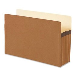 Business Source Accordion Expanding File Pocket - Legal Size - Redrope - Box of 10 (65795)