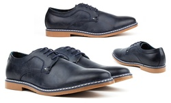 Tony's Casual Men's Derby Shoes - Navy - Size: 8.5