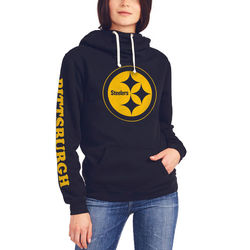 Nfl Pittsburg Steelers Women's Sunday Hoody - Size: Large