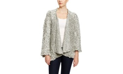Beulah Long Sleeve Cardigan - Gray - Size S/M