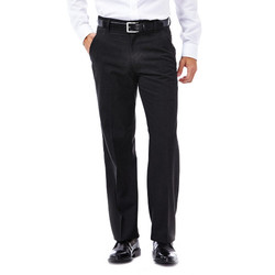 Haggar Heritage 5-Pocket Herringbone Pants - Charcoal - Size: L