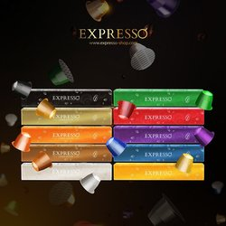 Expresso Coffee Capsules Gift Box Limited Edition - 80 Pods